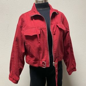 Red Utility Jacket